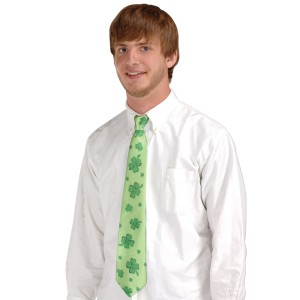 St. Patrick's Day - Shamrocks Tie - Green / One-Size