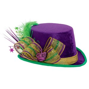 Mardi Gras Deluxe Top Hat