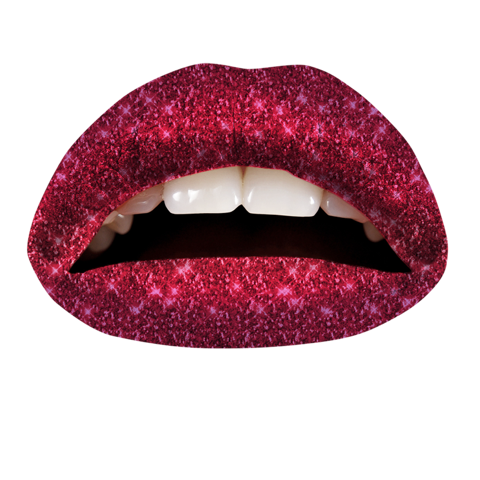 Temporary Lip Tattoos - Black Cherry Ombre Glitteratti