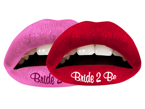 Temporary Lip Tattoos - Bride to Be Multi-Pack