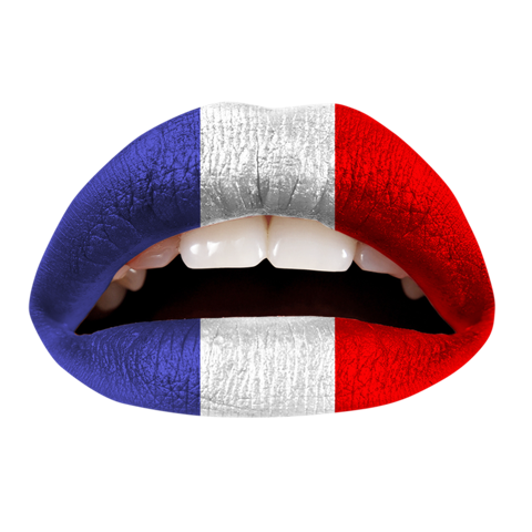 Temporary Lip Tattoos - French Flag