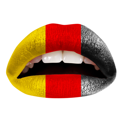 Temporary Lip Tattoos - German Flag