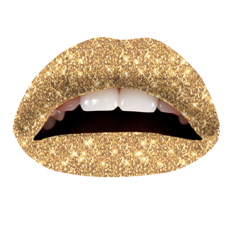 Temporary Lip Tattoos - Gold Glitteratti