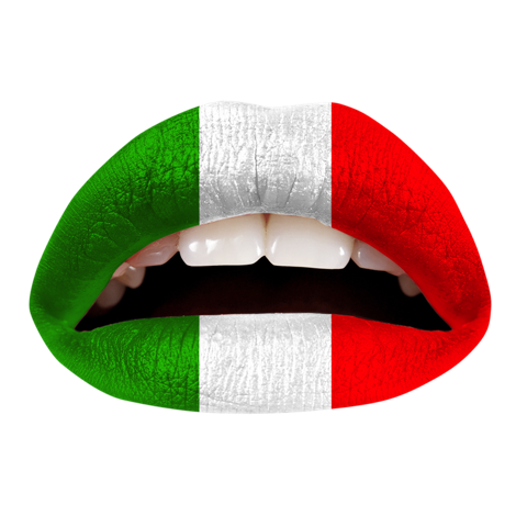 Temporary Lip Tattoos - Italian Flag
