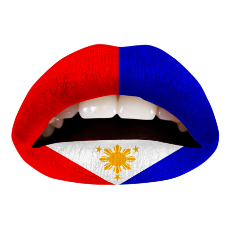 Temporary Lip Tattoos - Philipino Flag