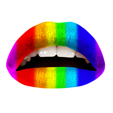 Temporary Lip Tattoos - Rainbow