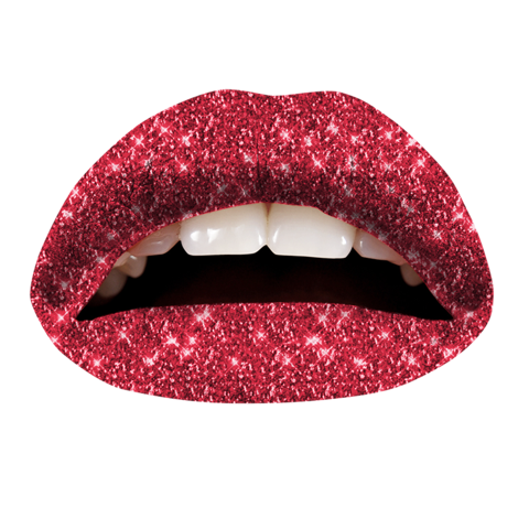 Temporary Lip Tattoos - Red Glitteratti