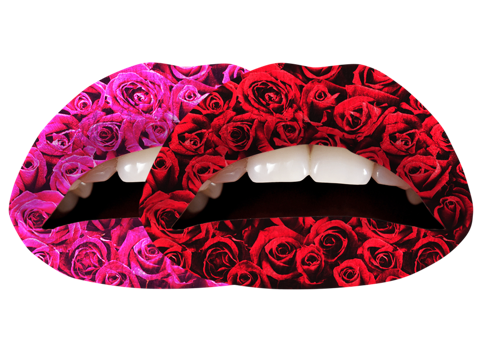 Temporary Lip Tattoos - Roses Multi-Pack
