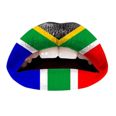 Temporary Lip Tattoos - South African Flag