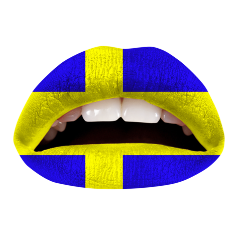 Temporary Lip Tattoos - Swedish Flag