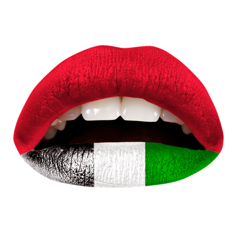 Temporary Lip Tattoos - UAE Flag