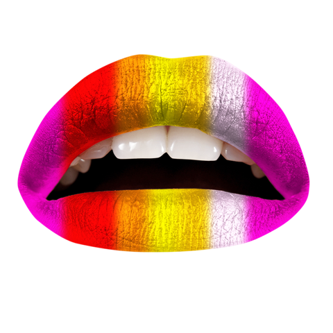 Temporary Lip Tattoos - Warm Rainbow