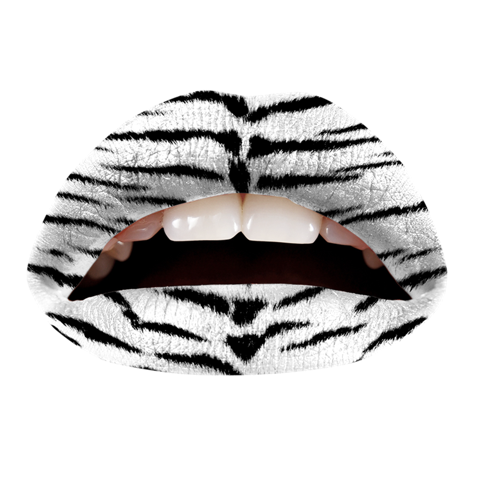 Temporary Lip Tattoos - White Tiger