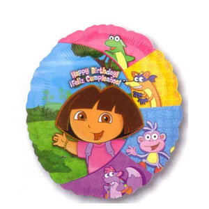 Dora and Friends Happy Birthday Balloon- 18 Inch