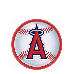 Los Angeles Angels 9 Inch Plates- 18ct