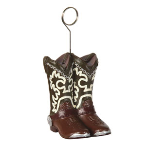 Cowboy Boots Photo and Balloon Holder- 6oz