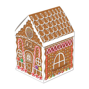 Gingerbread House Centerpiece - 8in