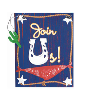 Western Bandana Dangler Invitations - 8ct
