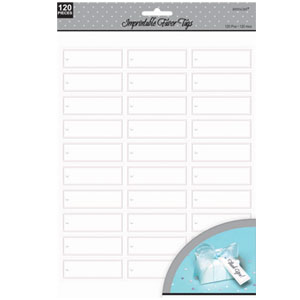 Imprintable Favor Tags - White 120ct