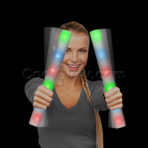 Fun Central Z553 LED Light Up Foam Stick Baton Supreme - Rainbow