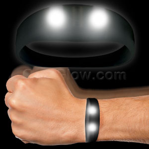 LED Motion Activated Wristband - Black