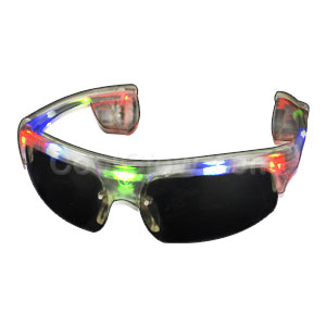 LED Sporty Sunglasses - Multicolor