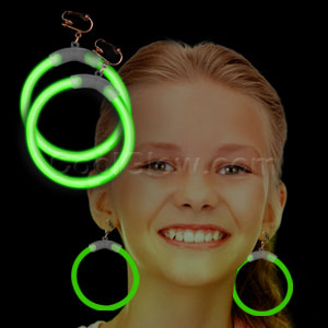 Glow Earrings - Green