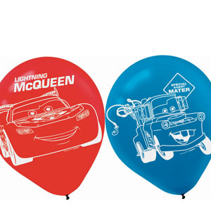 Cars 2 Printed Latex Balloons