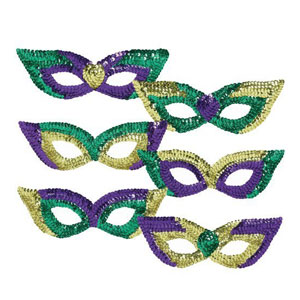 Sequin Party Masks-Assorted