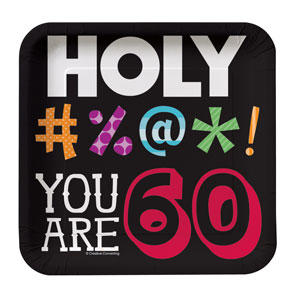 Holy Bleep You're 60 Luncheon Plates - 8ct