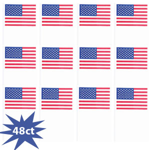 USA Flag Value Pack - 48ct