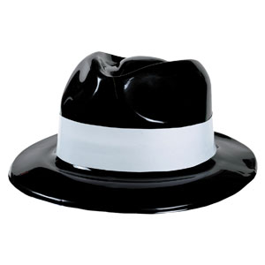 White Band Gangster Hat- 12in