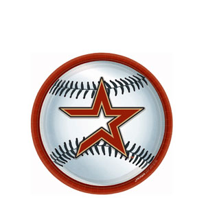 Houston Astros 9 Inch Plates- 18ct