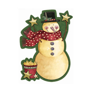 Cozy Snowman Glitter Jumbo Invitations - 8ct