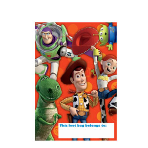 Toy Story 3 Folded Loot Bags- 8ct