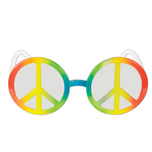 Peace Sign Glasses - Full Size