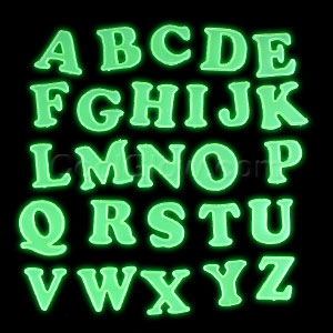 Glow Stickers - Alphabet