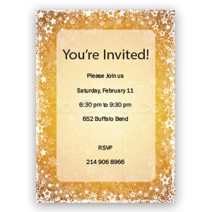 Golden Snow 'Happy Holidays' - Custom Invitations