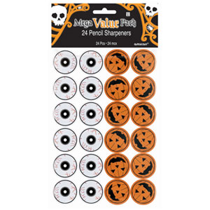 Halloween Pencil Sharpeners- 24ct