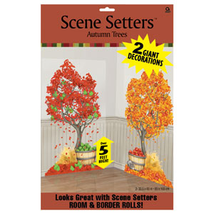 Autumn Tree Scene Setter- 65 Inch 2ct