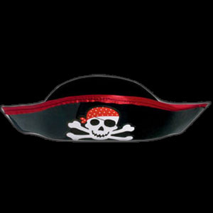 Pirate's Treasure Plastic Pirate Hat
