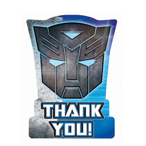 Transformers 3 Thank You Cards- 8ct