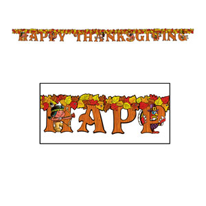 Happy Thanksgiving Streamer 2 - 6ft
