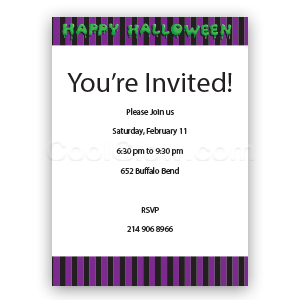 Happy Halloween - Custom Invitations