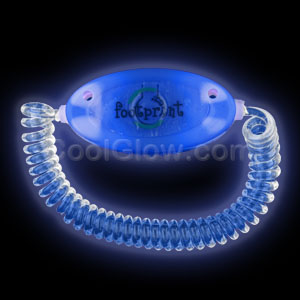 Fun Central AC976 LED Light Up Stretchy Bracelet - Blue
