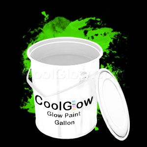 Glominex Glow Paint Invisible Day Gallon Green