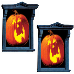 Glow Pumpkin Window Magic Decoration- 2ct