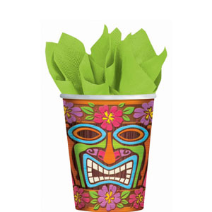 Tiki Time 9 oz. Cups- 8ct