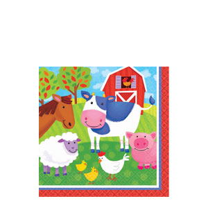 Barnyard Fun Beverage Napkins- 16ct