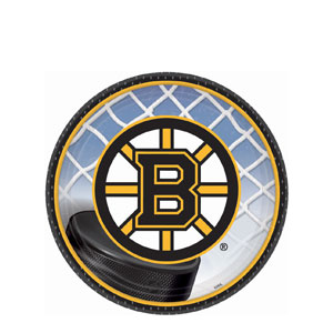 Boston Bruins 7 Inch Plates- 8ct